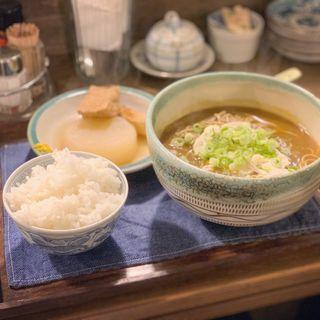 日替わり定食(カレー蕎麦)