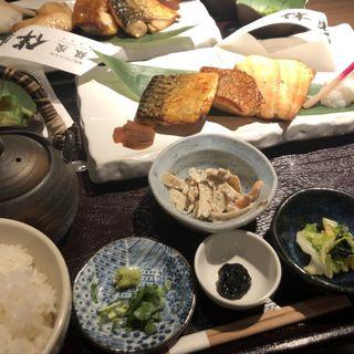 三種の干物定食(高級ブランド干物 『銀座伴助』 銀座本店)
