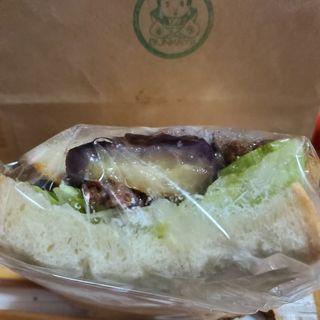 なすとひき肉の甘辛サンド(ぶんかや BUNKAYA)