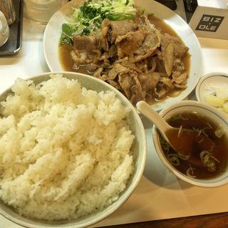 豚肉の生姜焼きとライス(らーめんはうす )