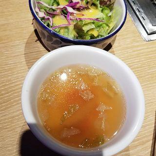 サラダとスープ(ランチセット)(神楽坂焼肉 Kintan)