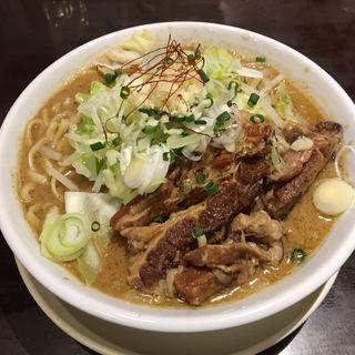 牛バラ豚骨 (限定)(千極煮干 (センゴクニボシ))