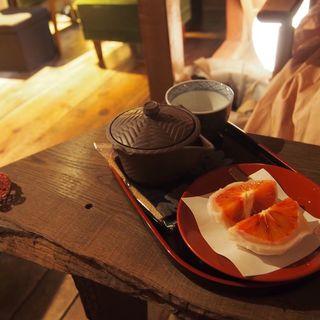 丸ごとみかん大福と抹茶セット