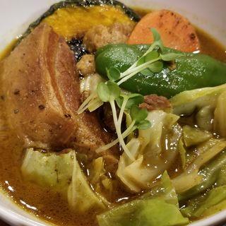 スープカレー 豚野菜