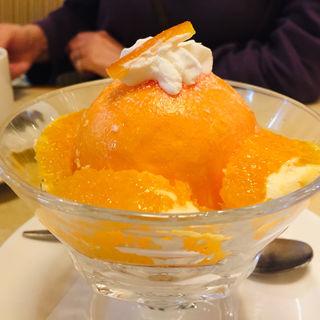 オレンジのムースケーキ