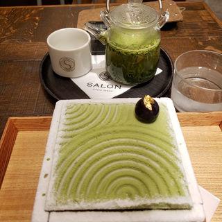 茶房パフェとお茶セット