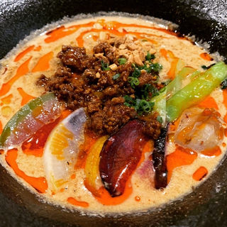 鎌倉野菜たっぷりの担々麺セット(ライス、サラダ付)(SION modern chinese)