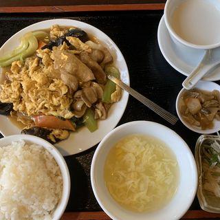 キクラゲと玉子炒め定食(吉好亭 )