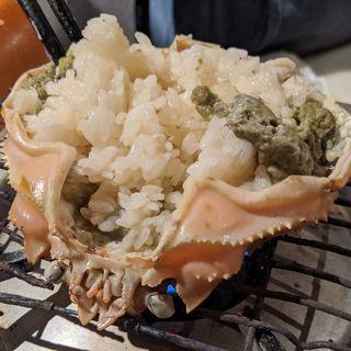蟹甲羅御飯(松陰鶴水)