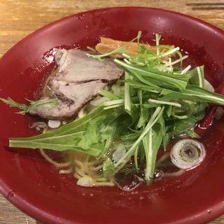 煮干塩ラーメン(麺や 六三六 茶屋町店 )