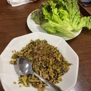 高菜ひき肉炒め(達磨)