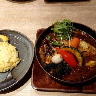 やわらかチキンレッグと9種野菜(スープカレーガラク 中野店 (GARAKU))