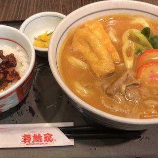 カレーうどんランチ(ミニどて丼)(若鯱家 イオンモール鈴鹿店 (わかしゃちや))