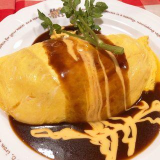 餅もちチーズオムライス(ラケル新宿西口店)