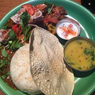 one curry plate ソフトシェルクラブカレー(Cafe & Bar 鳩ノ森 (HATONOMORI))