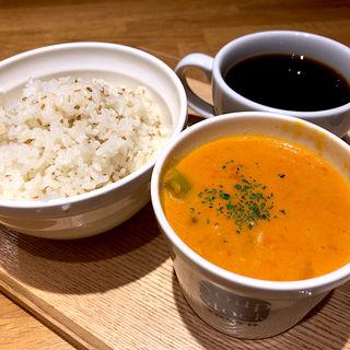 朝スープセット(野菜と鶏肉のトマトシチュー)