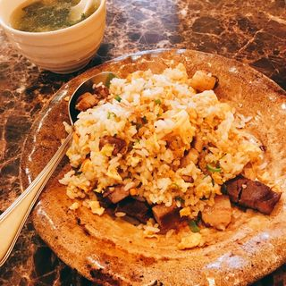 角煮炒飯、スープ(永芳園 )