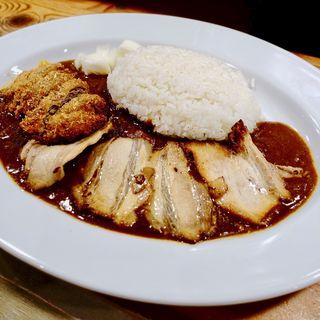 炙りちゃーしゅーカレー+牛カツトッピング(さぼてん食堂 )
