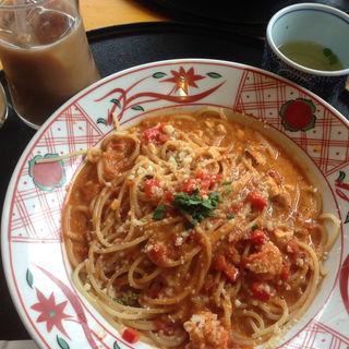 オマール海老とビスクスープスパゲッティ(五右衛門麻布十番店 )