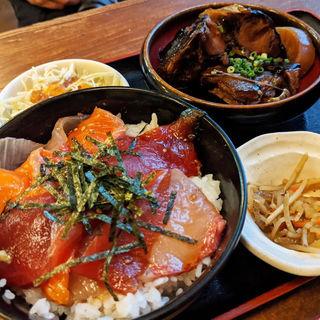 ミニ海鮮丼&ブリ大根セット(味処 一魚一栄)