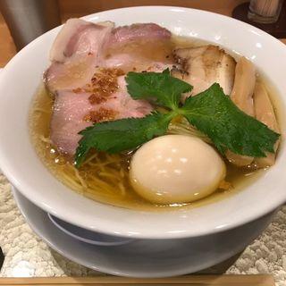 黄金貝らーめん 味玉付(なにわ麺次郎)