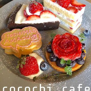 いちごのケーキ(ココチカフェ)
