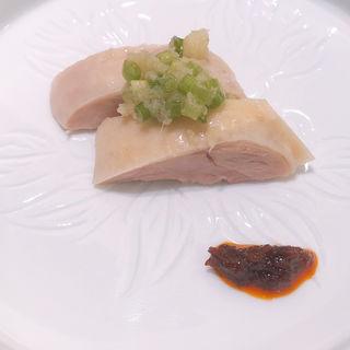 ・璃宮特製ゆで鶏 ネギ・生姜ソース添え(小盆)(赤坂璃宮 銀座店 (アカサカリキュウ))