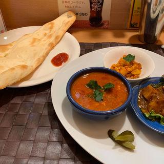 ご飯がつかないディナーセット(南インドの味 カレーリーフ )