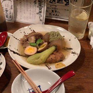 おでん5点盛り(菊松食堂)