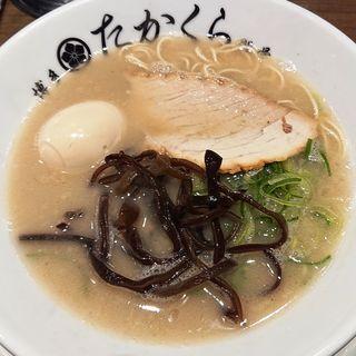 ラーメン (一番釜)(濃厚博多豚骨 たかくら 武蔵小杉店)