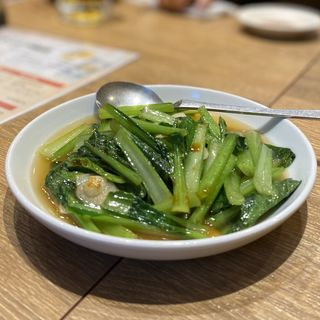 青菜炒め(黒豚ぎょうざ酒場 米吉 CBC前店)