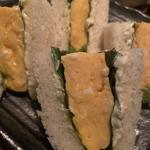 厚焼き卵と大葉のサンドイッチ