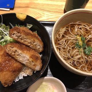 ソース黒豚メンチカツ丼(稲田屋 大手町店 )