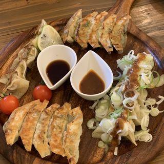 餃子4種盛り合わせ(鎌倉餃子 UMINECO WINE&CAFE)