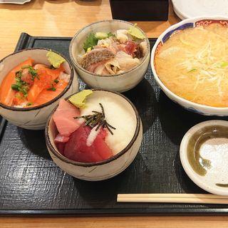 まんぷく丼3種(四季 花まる PASEO店 )
