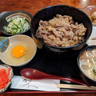 特製ねぎ玉牛丼御膳(蓮 )