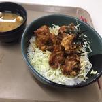 唐揚げ丼(東北福祉大学食堂 国見キャンパス (福祉大国見学食))