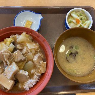とろうま豚中華丼しじみ汁おしんこセット(すき家 263号福岡野芥店 )