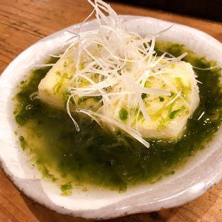 あおさの揚げ出し豆腐(クラフト麦酒酒場 シトラバ)