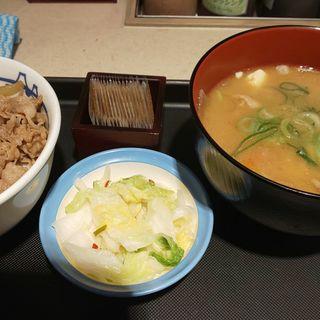朝特豚汁おしんこセット牛丼ミニ(松屋 八重洲店 )