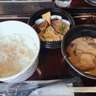ランチセット(鶏とキノコのクリーム煮)(よし梅 人形町本店 (よしうめ))