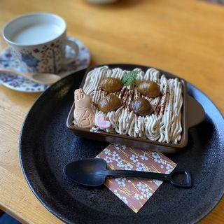 めっちゃモンブランセット(cafe cakra (カフェ チャクラ))