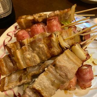 豚バラとうずらの卵のベーコン巻き(焼鳥松高 )