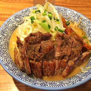 らーめん+牛ステーキ