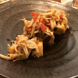 ピータンと卵豆腐