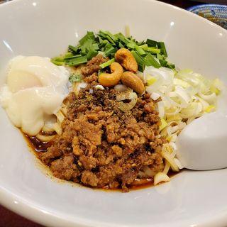 汁なし担々麺(自家製麺 魚担々麺・陳麻婆豆腐 dandan noodles なんばラーメン一座店)