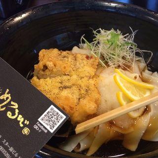 鶏天うどん 冷(めんつるび (【旧店名】さぬき安べえ))