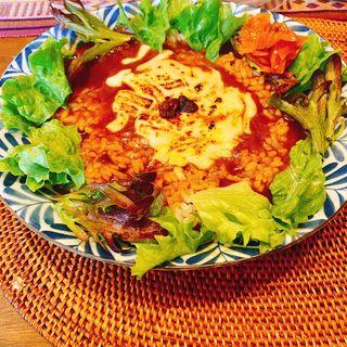 焼きチーズカレー(サラダ付)