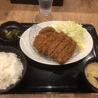 自家製手作りビッグメンチカツ(とんかつ薩摩 ヨドバシ横浜店)