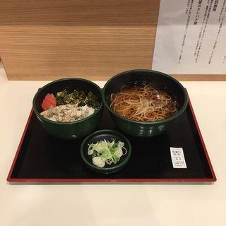 焼鯖ごはんセット(ゆで太郎名古屋住吉店)